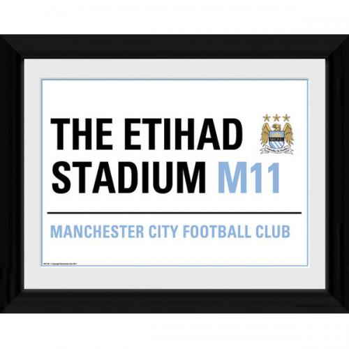 Manchester City F.C. Picture Street Sign 16 x 12