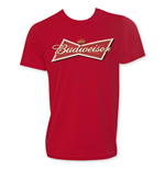 BUDWEISER Classic Bow Tie Logo Men's Red T-Shirt