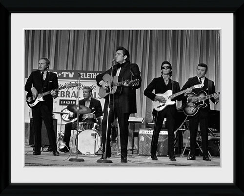 Johnny Cash On Stage Framed Collector Print