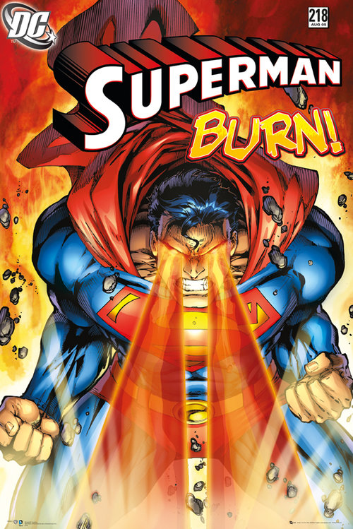 Superman Burn Maxi Poster