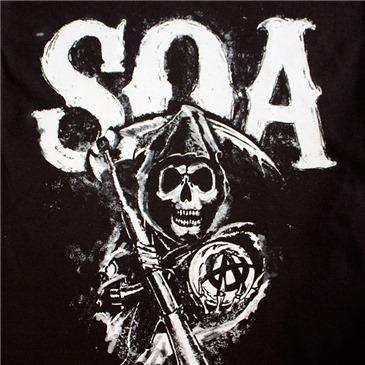 sons of anarchy black soa reaper logo men s tee shirt for only c rh merchandisingplaza ca Sons of Anarchy Reaper Logo.gif From Sons of Anarchy Reaper Logo