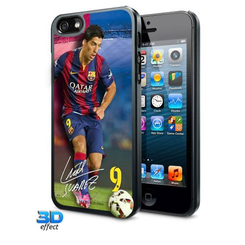F.C. Barcelona iPhone 5 / 5S Hard Case 3D Suarez
