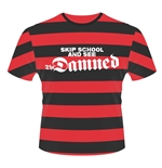 The Damned T-shirt Skip School (STRIPES)
