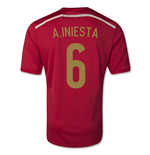 2014-15 Spain World Cup Home Shirt (A.Iniesta 6) - Kids