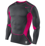 Nike Hypercool Compression LS Top (Grey-Pink)