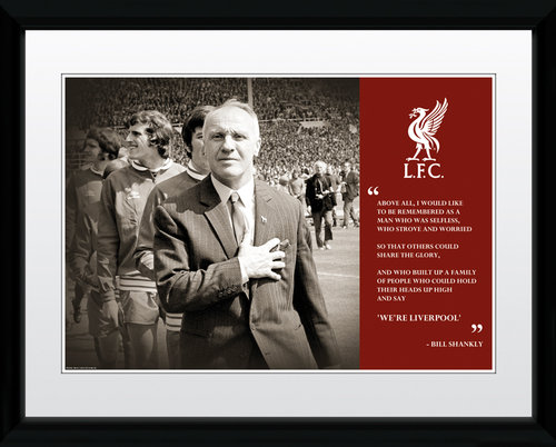 Liverpool Shankly Quote Framed Collector Print