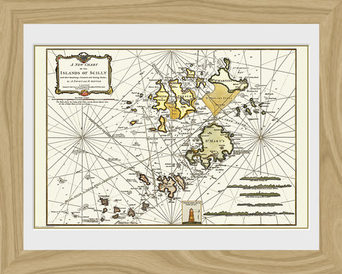 Maps Isle Of Scilly Framed Photographic Print