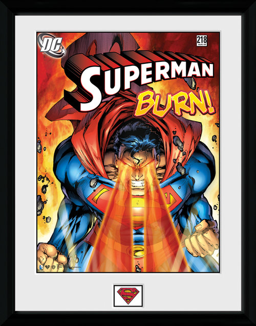 Superman Burn Framed Collector Print