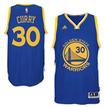 Mens Golden State Warriors Stephen Curry adidas Royal Blue 2015-16 New Swingman Road Jersey