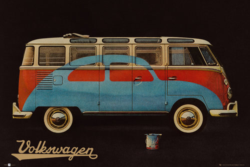 VW Camper Paint Advert Maxi Poster