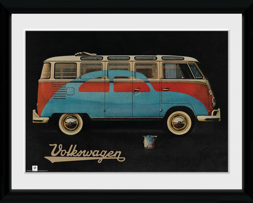 VW Camper Paint Advert Framed Collector Print
