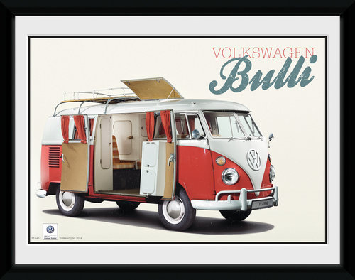VW Camper Bulli Framed Collector Print