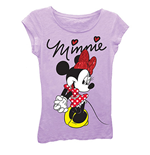 DISNEY Minnie Mouse Girls 7-16 Signature Tee Shirt