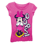DISNEY Minnie Mouse Girls 7-16 Pink Oops Tee Shirt