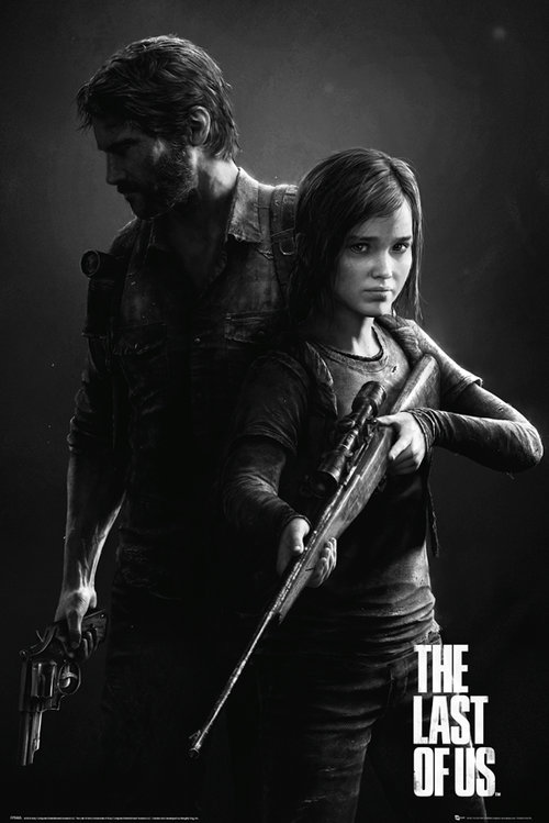 The Last Of Us Black and White Portrait Maxi Poster