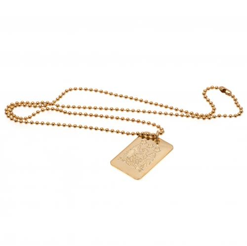 Manchester City F.C. Gold Plated Dog Tag & Chain