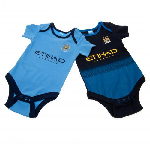 Manchester City F.C. 2 Pack  Bodysuit 9/12 mths