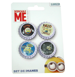 Despicable Me 2 4-Piece Magnets Set Minions