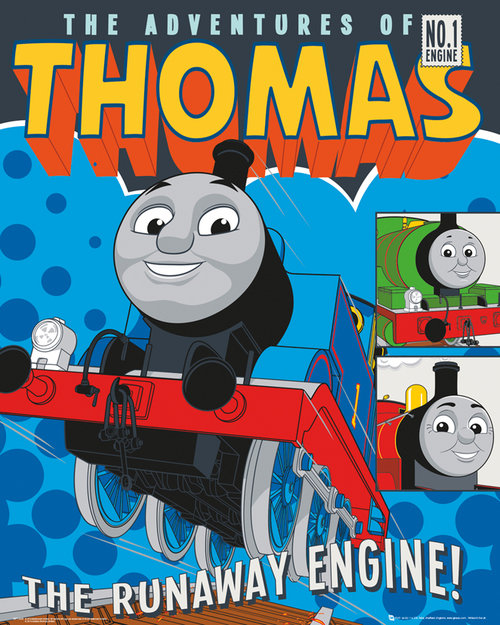 Thomas and Friends Runaway Engine Mini Poster