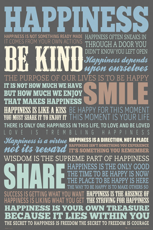 Happiness Quotes Maxi Poster