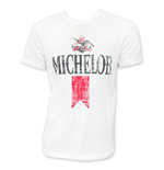 MICHELOB Men's White Vintage Beer Logo T-Shirt