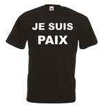 Transfer Printed T-shirt - Je suis Paix