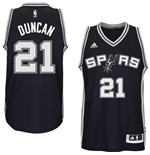 Mens San Antonio Spurs Tim Duncan adidas Black New Swingman Road Jersey