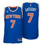 Mens New York Knicks Carmelo Anthony adidas Royal Blue New Swingman Road Jersey