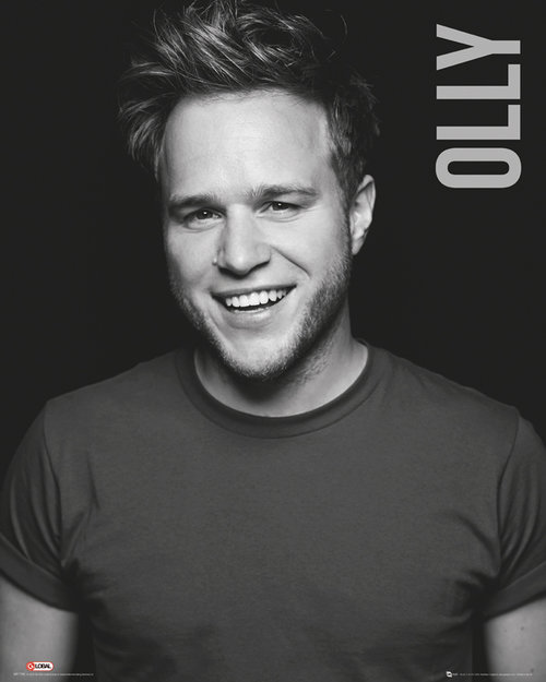 Olly Murs Black and White Mini Poster