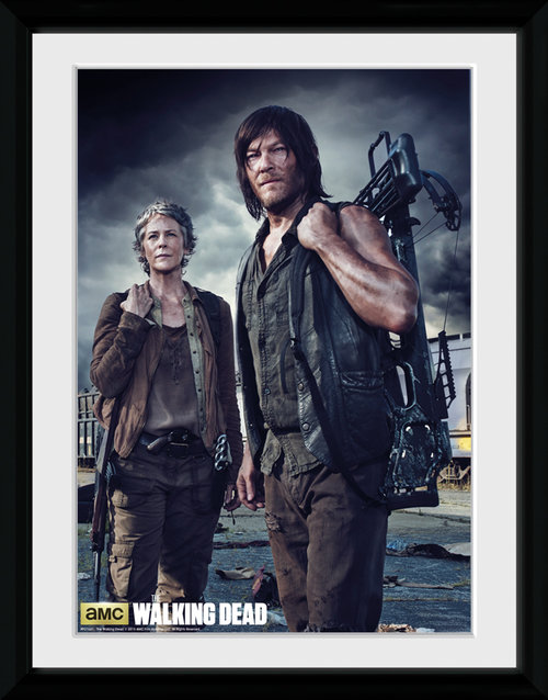 The Walking Dead Carol and Daryl Framed Collector Print
