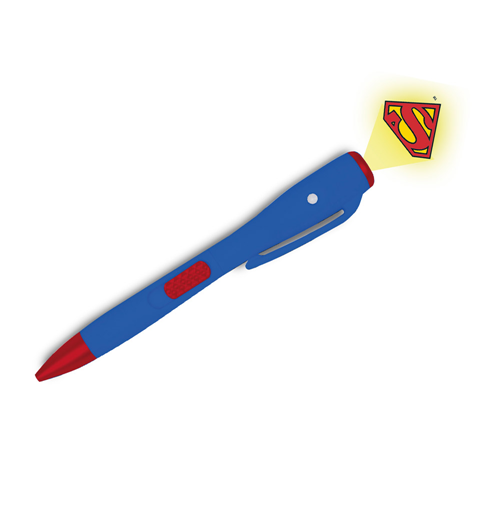 Superman Ball Pen with Light Logo