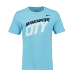 2014-2015 Man City Nike Core Type Tee (Blue)