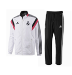 2014-15 Real Madrid Adidas Presentation Tracksuit (White-Pink)