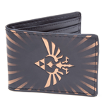 NINTENDO Legend of Zelda Gold Link Logo Bi-Fold Wallet, Black/Gold