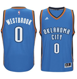 Mens Oklahoma City Thunder Russell Westbrook adidas Light Blue New Swingman Road Jersey