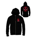 Deadpool Zipped Hooded Sweater Logo