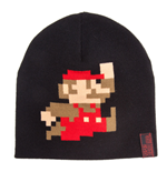 NINTENDO Super Mario Bros. Pixelated Running Mario Beanie, Black