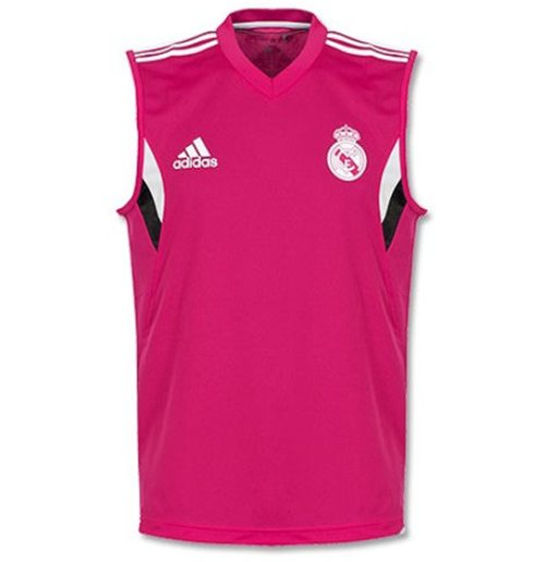 finest selection f2da1 ad793 2014-2015 Real Madrid Adidas Sleeveless Shirt (Pink)