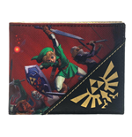 NINTENDO Legend of Zelda Ocarina of Time 3D Bi-Fold Wallet, Red/Black
