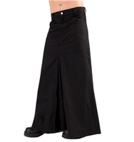 Black Pistol Men Skirt Denim