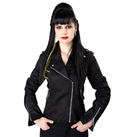 Black Pistol Biker Lady Jacket Denim