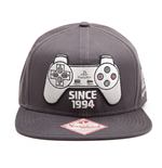 SONY PlayStation One Snapback Since 1994 Controller Baseball Cap, Dark Grey