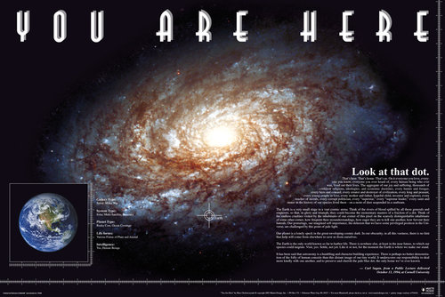 You Are Here Space Maxi Poster