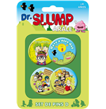 Dr. Slump Pin Badges 4-Pack Set D