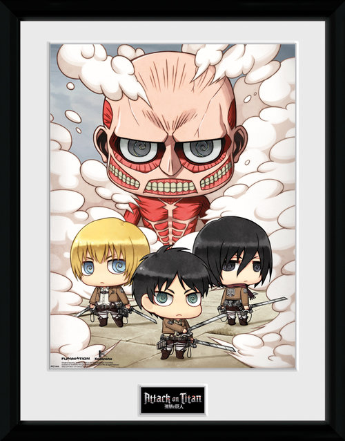 Attack On Titan Chibi Group Framed Collector Print