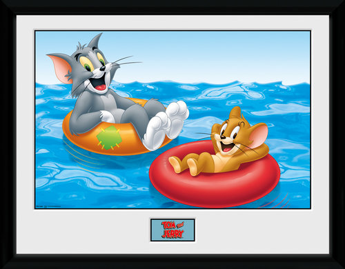 Tom & Jerry Floats Framed Collector Print