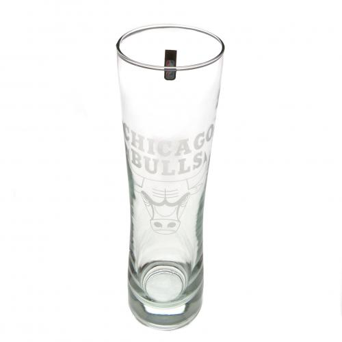 Chicago Bulls Tall Beer Glass