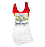 BUDWEISER Red And White Label Women's Tank Top