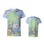 ADVENTURE TIME Finn & Jake's Treehouse Sublimation Print T-Shirt, Small