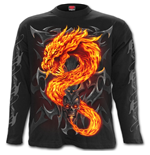 Fire Dragon - Longsleeve T-Shirt Black